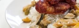 Tandoori-Huhn mit Gemüse und Reis
