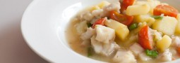 Fisch-Kartoffel-Lauch-Suppe nach Melusine-Art