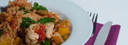 Hähnchen auf spanische Art mit Reis (pro Sommer-Version)