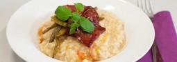 Risotto mit Bohnen und knuspriger Chorizo