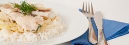 Fisch auf Kümmel-Kohl