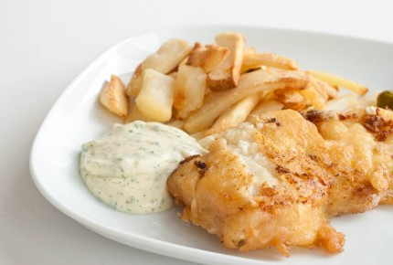 Fish'n'Chips mit Remoulade