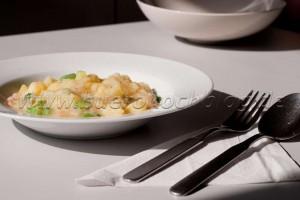Kartoffelsuppe mit Garnelen