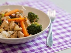 Putenfleisch mit Cashewnüssen und Brokkoli