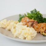 Fischspieß und Kartoffelsalat